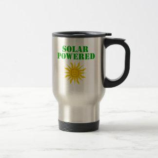 Solar accionado taza de viaje de acero inoxidable
