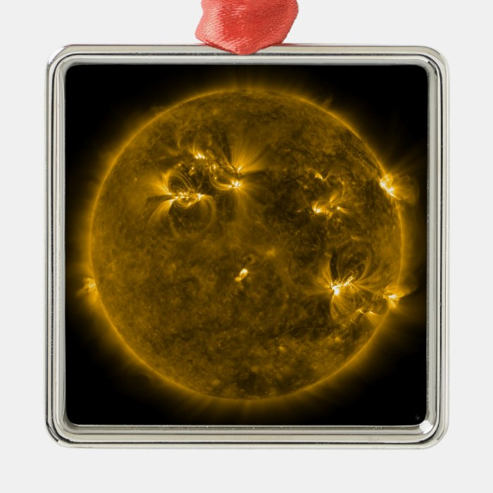 Solar activity on the Sun 4 Metal Ornament