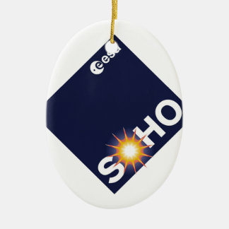 Solar and Heliospheric Observatory (SOHO) Double-Sided Oval Ceramic Christmas Ornament