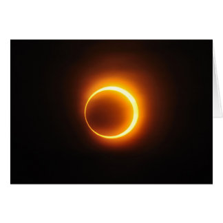 Solar Annular Eclipse of Jan 2010 in Jinan China Greeting Card