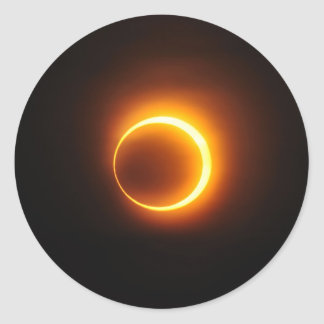 Solar Annular Eclipse of Jan 2010 in Jinan China Classic Round Sticker