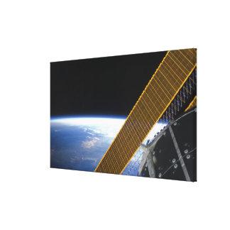 Solar array panels canvas print