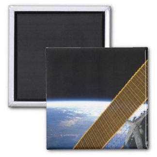 Solar array panels magnet
