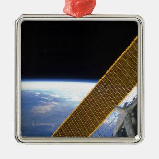 Solar array panels metal ornament