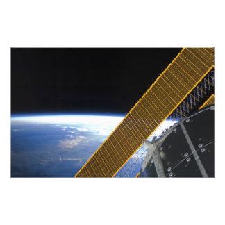 Solar array panels photo print