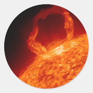 Solar-Azote Pegatina Redonda