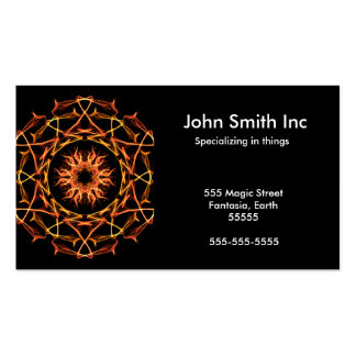 Solar Blessing - Energetic Geometry Business Card