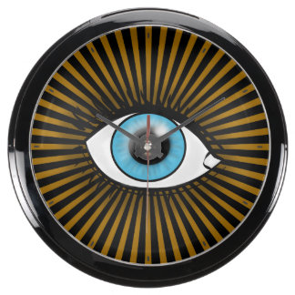 Solar Blue Eye Aqua Clocks