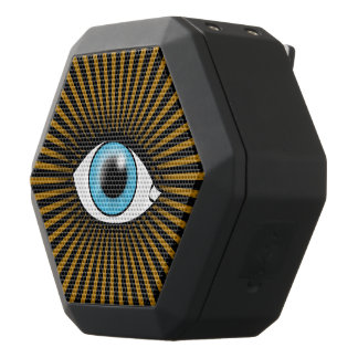 Solar Blue Eye Black Bluetooth Speaker
