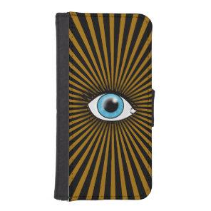 Solar Blue Eye iPhone SE/5/5s Wallet Case