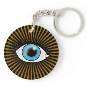 Solar Blue Eye Keychain