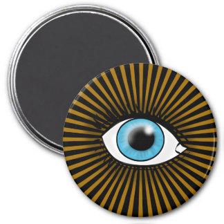 Solar Blue Eye Refrigerator Magnets