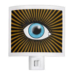 Solar Blue Eye Night Light