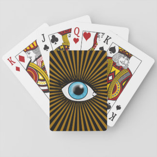 Solar Blue Eye Playing Cards