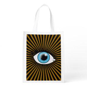 Solar Blue Eye Reusable Grocery Bag