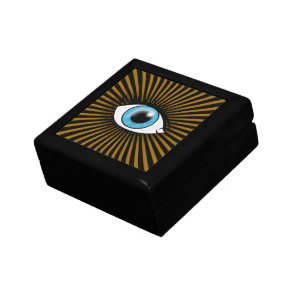 Solar Blue Eyes Jewelry Box