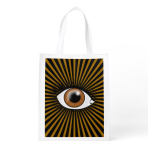 Solar Brown Eye Grocery Bag