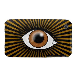 Solar Brown Eye iPhone 3 Case-Mate Case