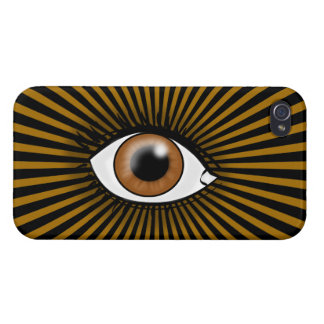 Solar Brown Eye iPhone 4/4S Covers