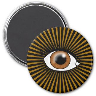 Solar Brown Eye Fridge Magnet