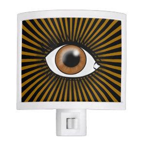 Solar Brown Eye Night Light