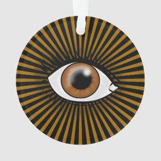 Solar Brown Eye Ornament
