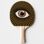Solar Brown Eye Ping-Pong Paddle