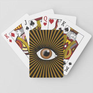 Solar Brown Eye Playing Cards