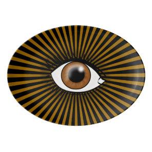 Solar Brown Eye Porcelain Serving Platter