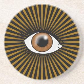 Solar Brown Eye Sandstone Coaster