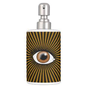 Solar Brown Eye Soap Dispenser And Toothbrush Holder