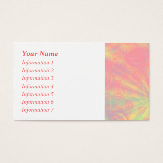 Solar Burst, Fractal Art. Colorful. Business Card