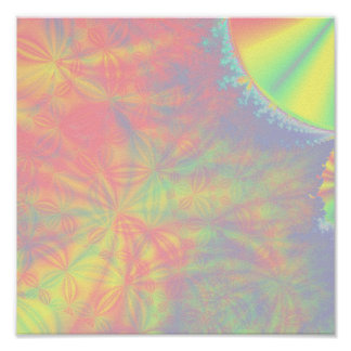 Solar Burst, Fractal Art. Colorful. Poster