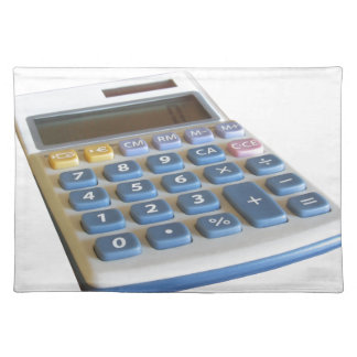 Solar calculator isolated on white background cloth placemat