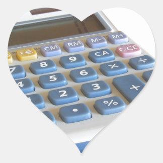 Solar calculator isolated on white background heart sticker