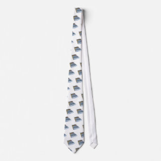 Solar calculator isolated on white background neck tie