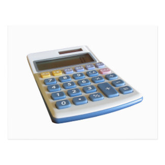 Solar calculator isolated on white background postcard