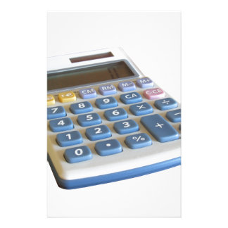 Solar calculator isolated on white background stationery