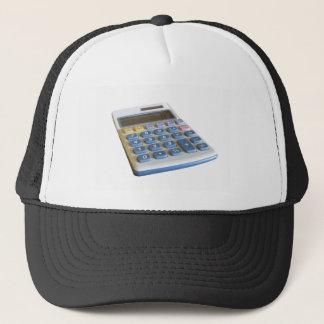 Solar calculator isolated on white background trucker hat