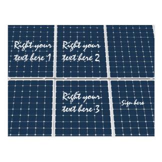 Solar Cell Panel Postcard