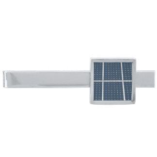 Solar Cell Panel Silver Finish Tie Clip