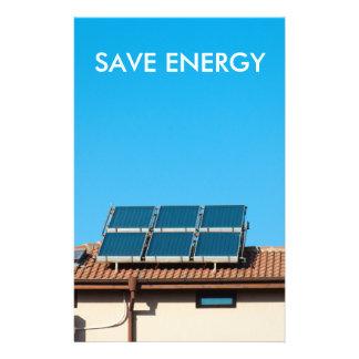 Solar cell system flyer design