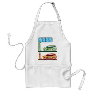 Solar Charging Station Electric Vehicle Adult Apron