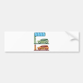 Solar Charging Station Electric Vehicle Bumper Sticker