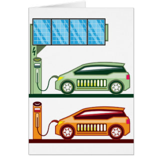 Solar Charging Station Electric Vehicle Card