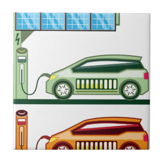 Solar Charging Station Electric Vehicle Ceramic Tile