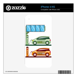 Solar Charging Station Electric Vehicle Decals For The iPhone 4S