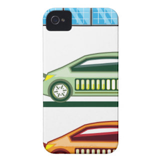 Solar Charging Station Electric Vehicle iPhone 4 Case