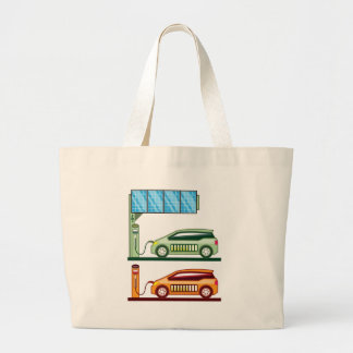 Solar Charging Station Electric Vehicle Large Tote Bag