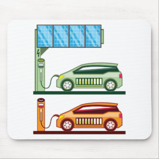 Solar Charging Station Electric Vehicle Mouse Pad